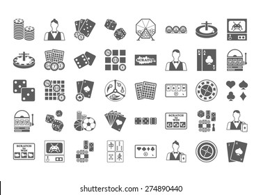 Casino icon. Vector Illustration isolated on white background.