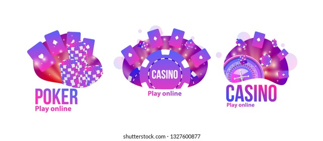 casino logos set place for text