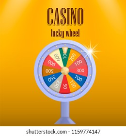 Casino lucky wheel concept background. Realistic illustration of casino lucky wheel vector concept background for web design