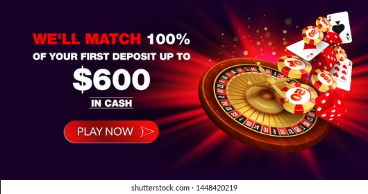 Casino online background with chips and cards. Concept for flyer, banner, poster. Vector illustration.