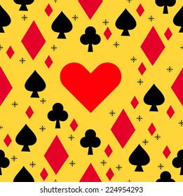 casino with pattern illustration background vector