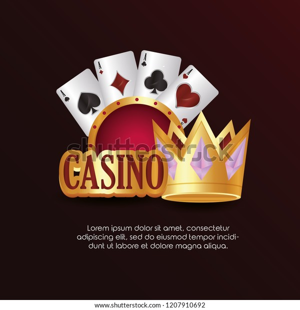 Casino Poker Board Golden Crown Card Stock Vector Royalty Free 1207910692
