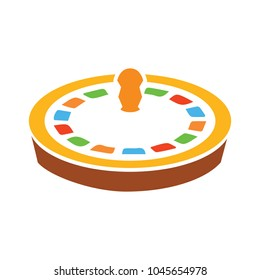 Casino roulette icon, game gambling, casino wheel