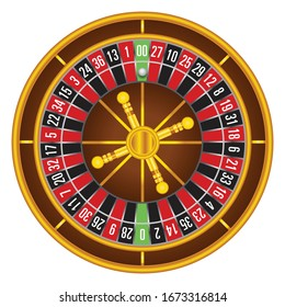 casino roulette wheel table in color