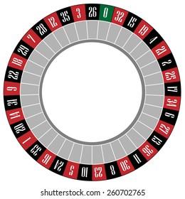 Casino roulette wheel vector icon isolated, gamble