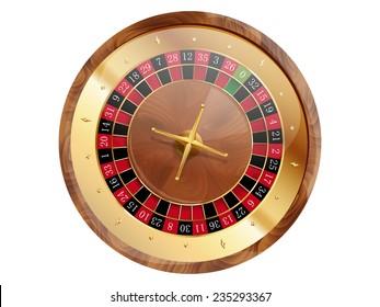 Casino roulette wheel. Vector illustration.