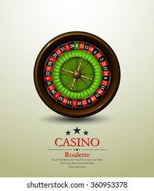 Casino roulette wheel. Vector illustration. Vip.