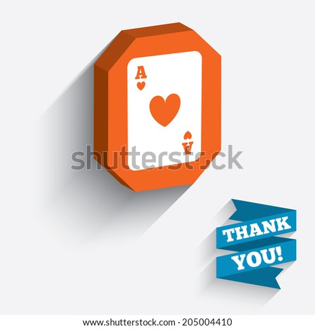 Casino Sign Icon Playing Card Symbol Stock Vector Royalty Free