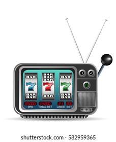 Casino slot machine in TV