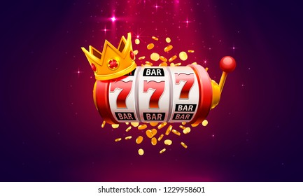 Casino slot winner banner signboard. Vector illustration