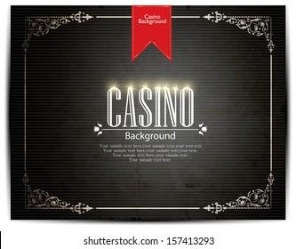 Casino vector background