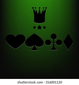 Casino vector background green eps 10
