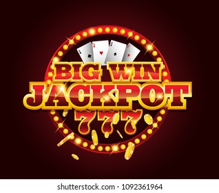 Casino vector golden slots machine with 777 numbers