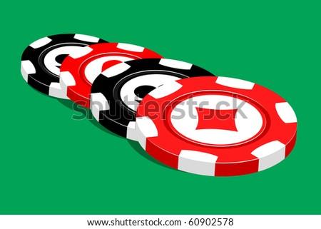 Casino Vector Illustration Black Red Chips Stock Vector (Royalty