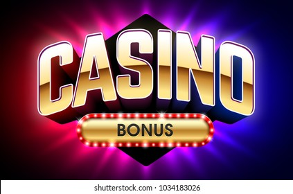 Casino Welcome Bonus banner, first deposit bonus, vector illustration