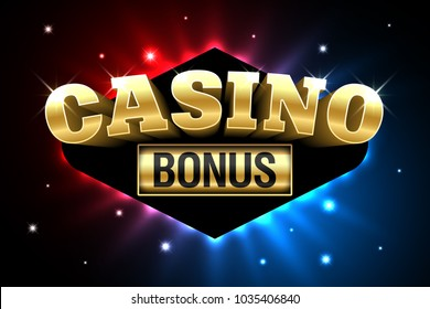 Casino Welcome Bonus, first deposit bonus banner, gambling casino money games, vector illustration