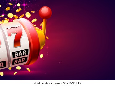 Casino winner banner signboard on background. Vector illustration