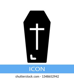 casket icon with perfect solid style