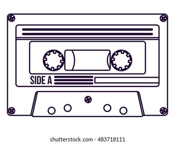 Cassette icon. retro technology gadget and antique theme. Isolated design. Vector illustration