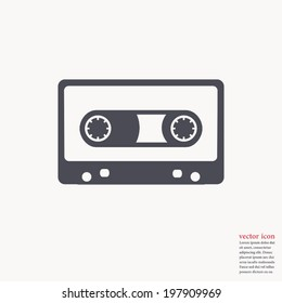 Cassette icon , Vector illustration