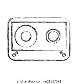 cassette old isolated icon
