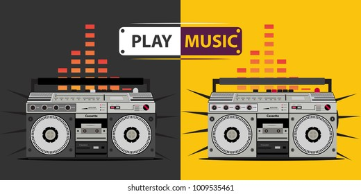 cassette player, music player, radio and recorder