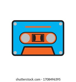 Cassette tape icon vector illustration