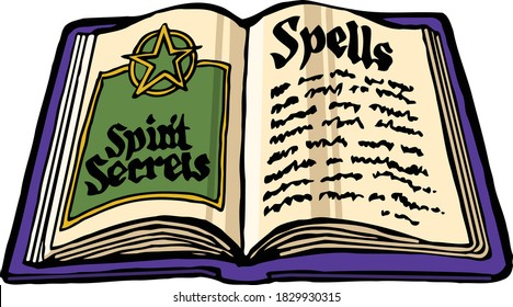 Cast a spooky halloween spell on trick or treaters in you neighborood.  This clip art pack features a witch's spell book.