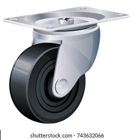 Caster Wheel Illustration