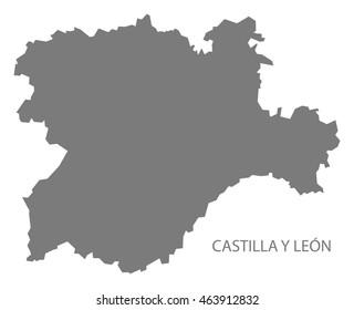 Mapa Castilla Y Leon En Blanco.Vectores Imagenes Y Arte Vectorial De Stock Sobre Ciudad