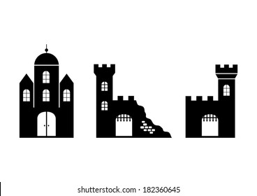 Castle black icons