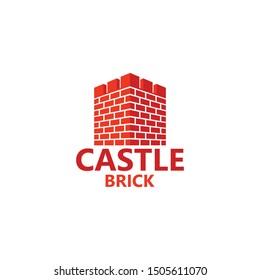 Castle Brick Logo Template Design