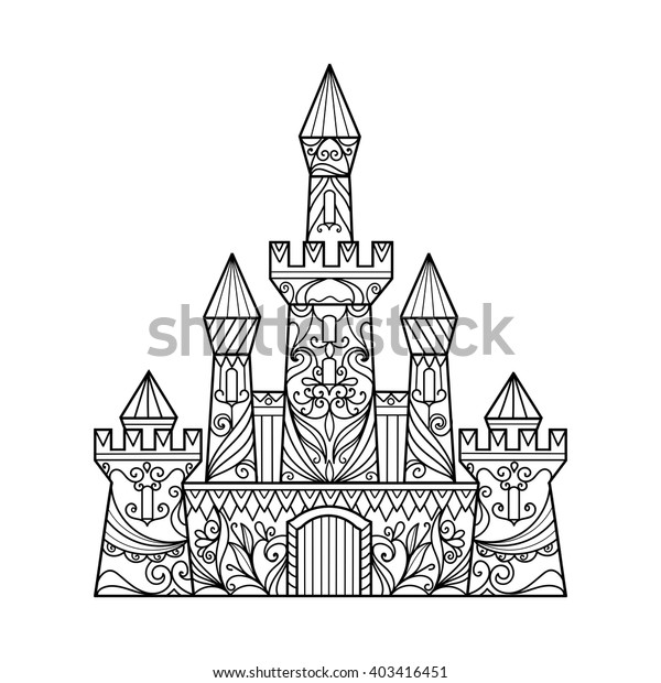 - Castle Coloring Book Adults Vector Illustration Stock Vector (Royalty Free)  403416451