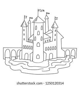 Castle #34 (Buildings and Architecture) – Printable coloring pages | 280x260