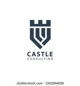 castle consulting logo design, icon design template elements