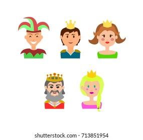 Castle Crew Cartoon Icons