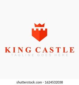 Castle crown logo modern design flat - vector