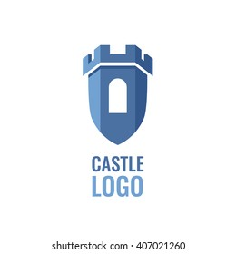 Castle, fortress vector logo. Tower architecture icon.  Logo for your business.