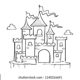 castle hand drawn