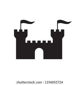 castle icon in trendy flat design