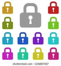 castle, lock, chateau, lock-hospital icon in multi color. Simple glyph vector of web set for UI and UX, website or mobile application