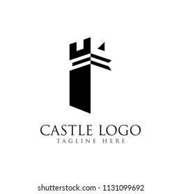 castle logo design, palace logo, fortress logo