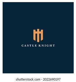 castle logo design, palace logo, fortress logo vector