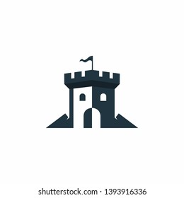 Castle Logo Design Stock Vector