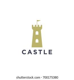 castle logo design template