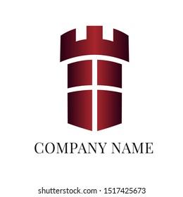 Castle logo. Designe vector logo for business