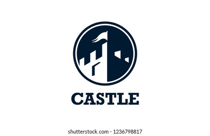 castle logo icon design template.vector illustration