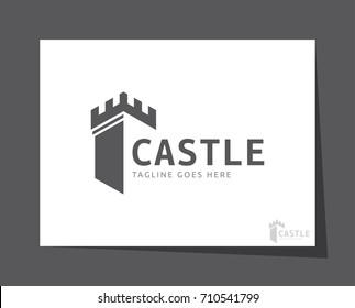 castle logo icon vector template