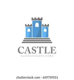 Castle logo illustration vector