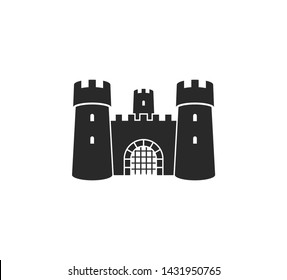 Castle. Logo. Old castle on white background. Vector illustration